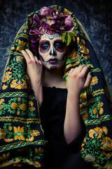 traditional costume on muertos