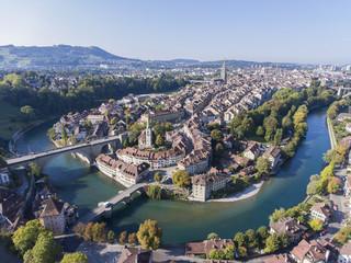 Luftaufnahme von der Berner Altstadt