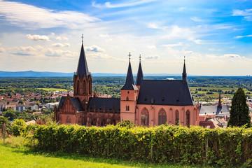 The gothic Katharinenkirche in Oppenheim in Rheinhessen