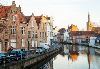 Bruges in the morning.
