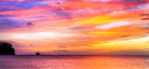 Tropical Costa Rican sunset Wall mural