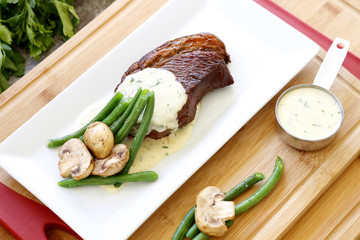 Brazilian Picanha Steakhouse with Garlic Parmesan Sauce