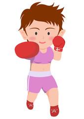 ボクシング 右ストレート 女子