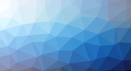 Abstract modern polygonal background based on geometric shapes of triangles of different sizes.