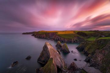 Sunset over South Ireland