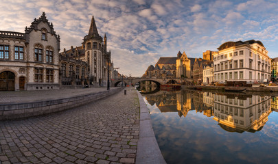 Sunrise over Ghent, Belgium