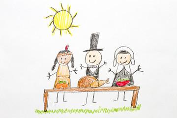 Thanksgiving Kids Drawing