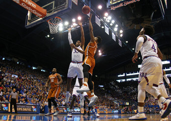 NCAA Basketball: Texas at Kansas