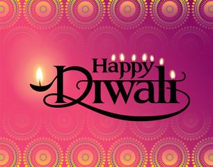 Diwali Festival. Vector illustration