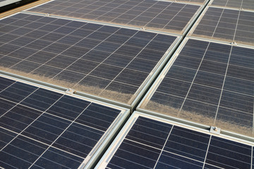 Dirty Dusty Photovoltaic Panels