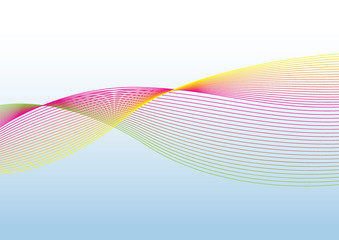 The multi color wave vector Abstract background