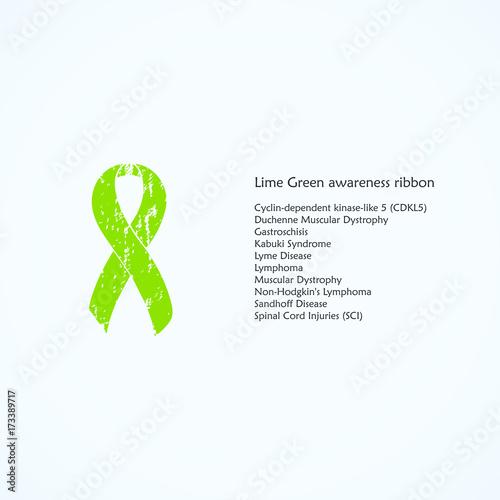 Lime Green Awareness Ribbon Painted Cyclin Dependent Kinase Like 5