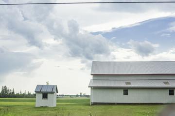 Farm on a rural road in Prince Edward Island, PEI, Canada