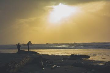 Ruby Beach Sun Set Ocean Waves