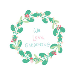 cute wreaths with text decoration