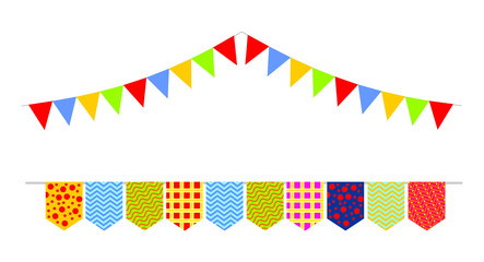 colorful garland flags