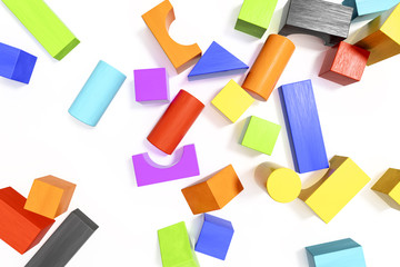 some colorful building blocks background