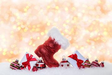 Weihnachten bokeh Karte