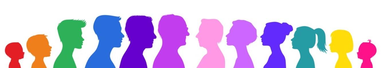 Human life chart. Colorful vector illustration
