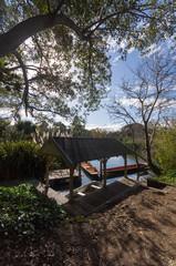 Botanical gardens boathouse.