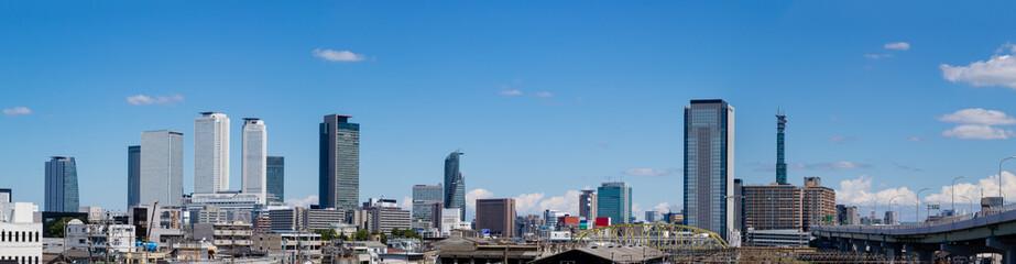 名古屋の都市のパノラマ写真