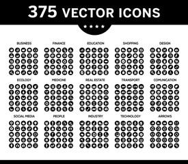 Pack of icons, vector collection for web design, icon set 3.