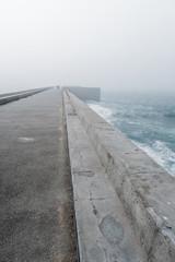 Lighthouse oporto fog