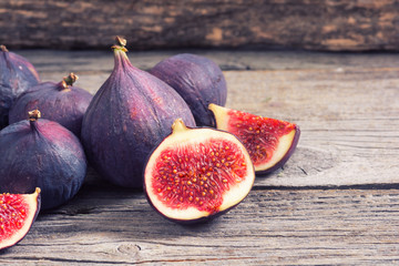 Ripe sweet figs