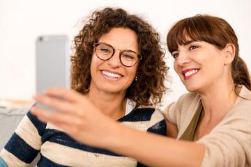 Best friends making a selfie