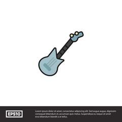 Electro guitar vector icon