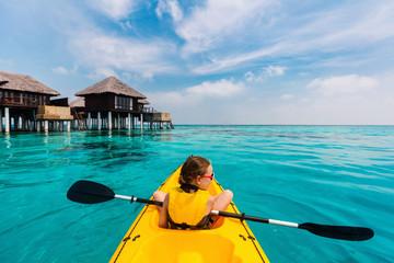 Little girl kayaking