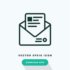 Open mail vector icon