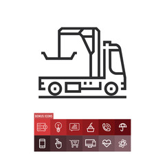 Tow truck icon, car lifter symbol. Modern, simple flat vector illustration for web site or mobile app
