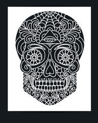 skull laser cutting