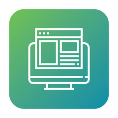 Browser icon, computer symbol. Modern, simple flat vector illustration for web site or mobile app