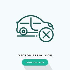 Diagnostic failure icon, car repiar symbol. Modern, simple flat vector illustration for web site or mobile app