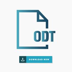 Odt file vector icon