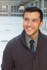 Professional young ethnic man smiling