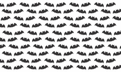 Simple Bat Pattern Halloween Background For Wallpaper, Banner, Bed Cover, T-Shirt, Pillow Case, Posters,  Etc