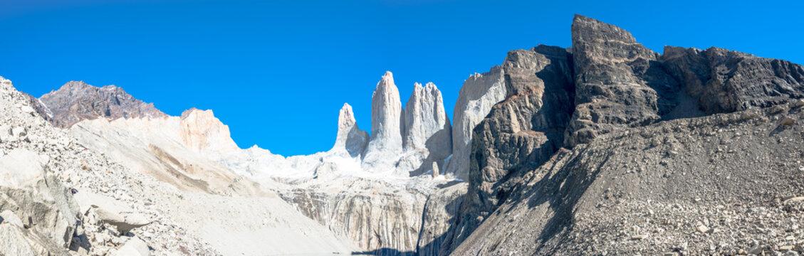 Panoramic view of Torres del Paine, National Park, Patagonia