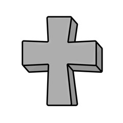 grave gray cross
