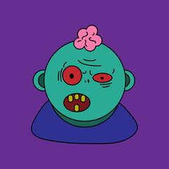 Zombie cartoon vector design