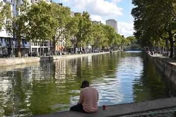 Poster Channel Canal Saint-Martin à Paris, France
