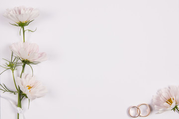 Wedding concept with white flowers