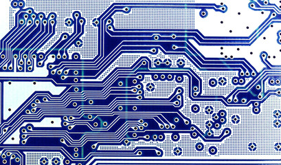 microchip or electronic circuit board close-up