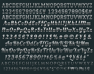 Vector alphabet  metallic style