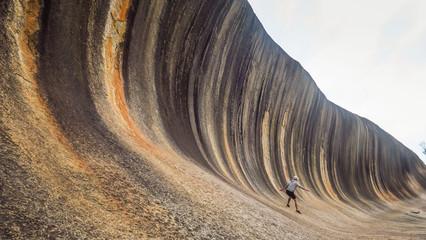 Discovering Wave Rock near Perth in Western Australia