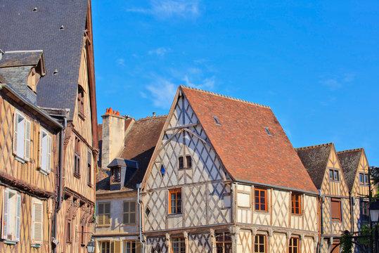 Bourges, maisons à colombage