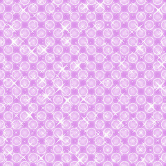 Pink background with bubbles, seamless