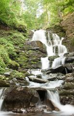 Mountain waterfall landscape.